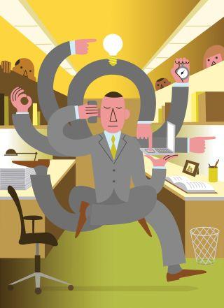 Liệu việc trở thành một người làm việc năng suất cao hơn có khiến bạn trở thành một con người tốt hơn? (Hình: Richard Mcguire)