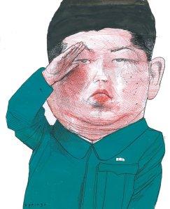 Kim Jong-un; bức vẽ của John Springs (Nguồn: The New York Review of Books)